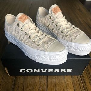 Converse All Star nude driftwood sneakers